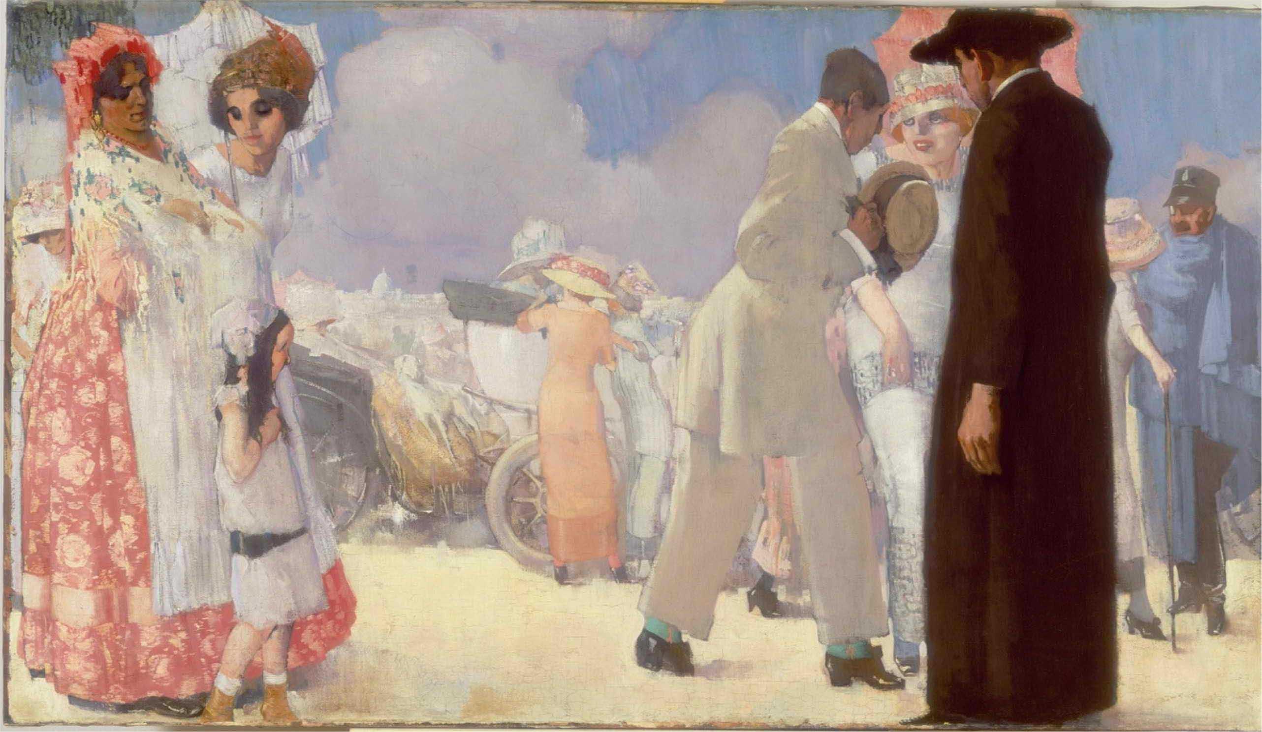 Piet van der Hem, A promenade on the Pincio, Rome, Amsterdam, Stedelijk Museum