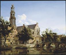 Jan van der Heyden, Westerkerk, Amsterdam, ca 1667. Private collection