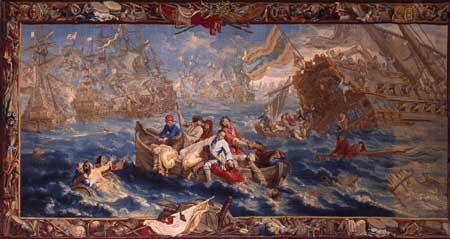 Philippe de Hondt, designer, Naval battle. Munich, Neue Schloss Schleissheim