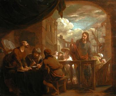 Arnold Houbraken, The calling of St. Matthew. Dordrechts Museum