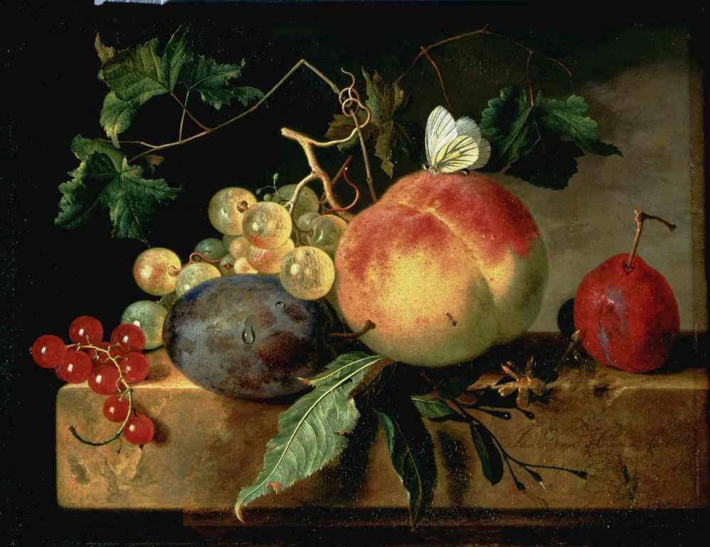 Jan van Huysum, Fruit still life. The Hague, Mauritshuis