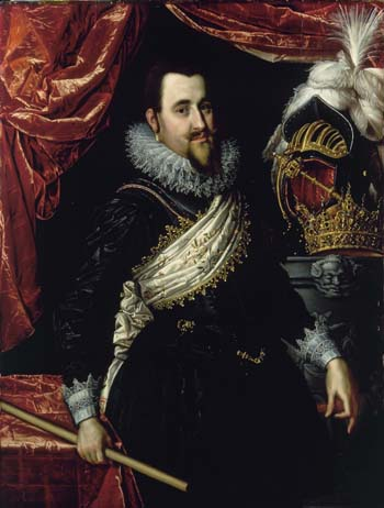 Pieter Isaacsz, Portrait of King Christian IV, 1614. Frederiksborg Castle