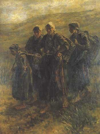 Jozef Israëls, Fisherwomen of Zandvoort. Jerusalem, Israel Museum