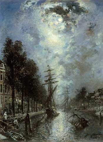 Johan Barthold Jongkind, Canal à Rotterdam. Historisch MuseumRotterdam