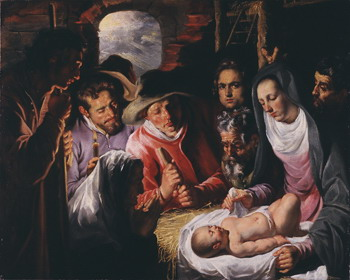 Jacob Jordaens, The adoration of the shepherds, ca. 1615, USA, private collection