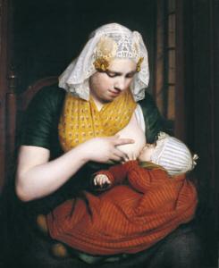 Willem Bartels van der Kooi, Mother nursing an infant. Leeuwarden, Fries Museum