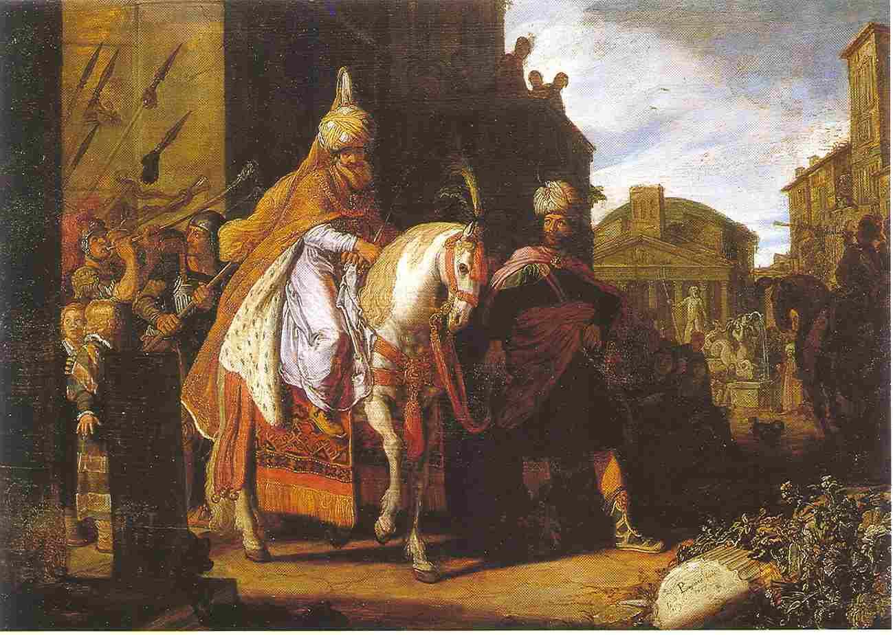 Pieter Lastman, <i>The triumph of Mordechai,</i> 1624, Amsterdam, Rembrandthuis