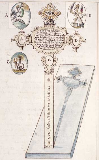 Michel le Blon, Jacob Böhme's funerary cross. Amsterdam, Bibliotheca Philosophica Hermetica