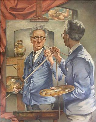 Willem van Leusden, Double self-portrait. Private collection