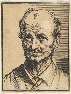 Jan Lievens, Bust of a balding man. Washington, National Gallery of Art
