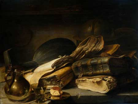 Jan Lievens, Still life with books. Amsterdam, Rijksmuseum