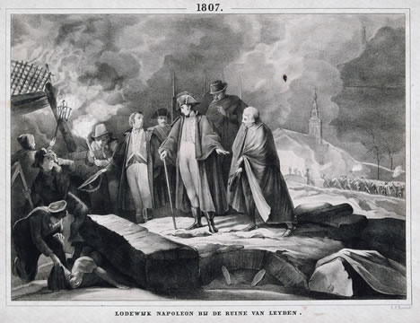 Louis Napoleon in Leiden after explosion, 12 January 1807