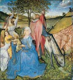 Master of Covarrubias, The rest on the flight into Egypt. Frankfurt, Städel Museum