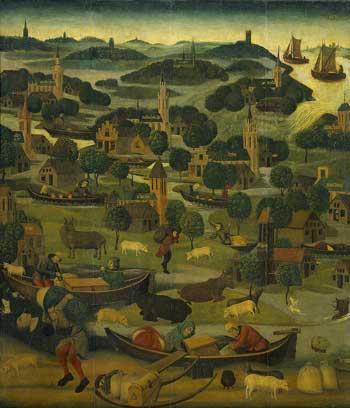 Master of Rhenen, ca. 1500, St. Elizabeth's Day Flood, 1421