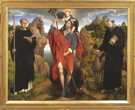 Hans Memling, The Willem Moreel Triptych. Bruges, Groeningemuseum