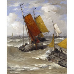 Hendrik Willem Mesdag, Return of the fishing boats