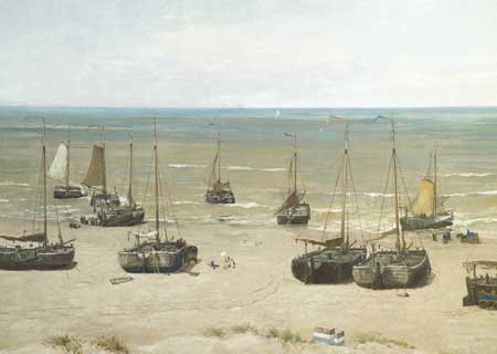 Hendrik Willem Mesdag, Panorama, detail of his wife Sientje painting. The Hague, Panorama Mesdag