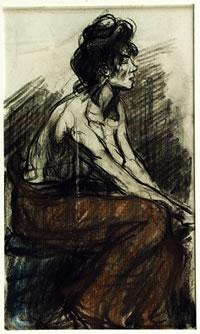 Eugeen Van Mieghem, Augustine malade, 1905. Fondation Eugeen Van Mieghem