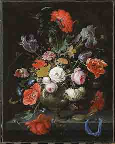 "Abraham Mignon, Still life with flowers <br /> and watch, ca. 1660-79. Amsterdam, Rijksmuseum""><br /> </p> <p class="