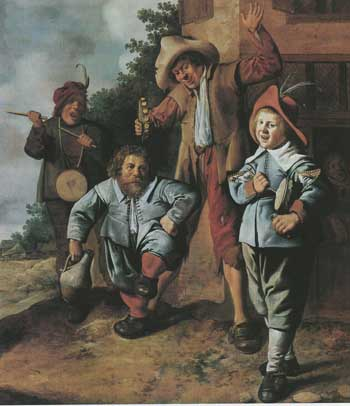 Jan Miense Molenaer, Young musicians and a dwarf. SØR Rusche coll.