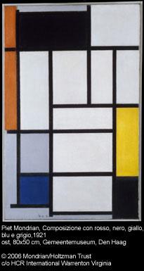 Piet Mondriaan, Composition in red, black, yellow, blue and gray, 1921. The Hague, Gemeentemuseum