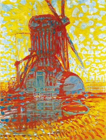 Piet Mondrian, Mill in sunlight. The Hague, Gemeentemuseum