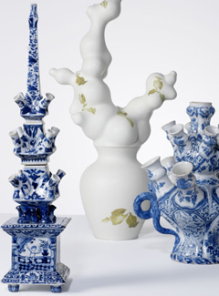 Vases with spouts, from exhibition in Gemeentemuseum Den Haag 2007