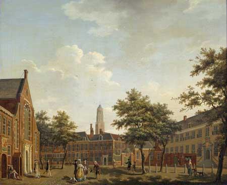 Isaac Ouwater, Janskerkhof, Utrecht. Utrecht, Centraal Museum