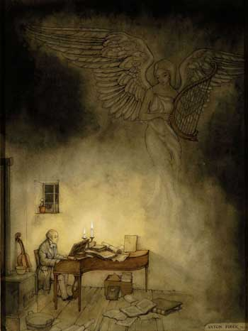Anton Pieck, Schubert at the piano