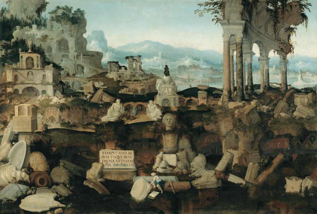 Herman Posthumus, Landscape with Roman ruins, 1536, Vienna, Liechtenstein Museum