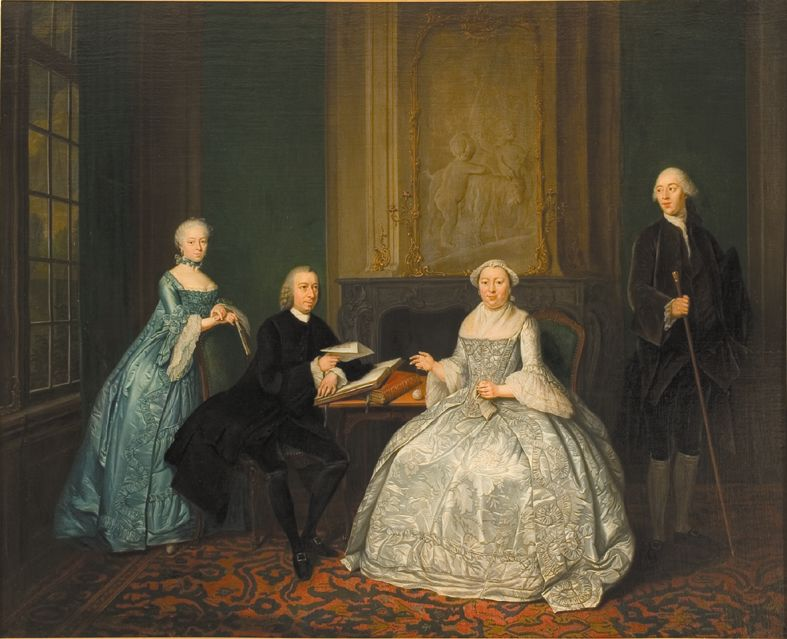 Tibout Regters, Johannes Westrik and his family, 1762, Amsterdam, Amsterdams Historisch Museum
