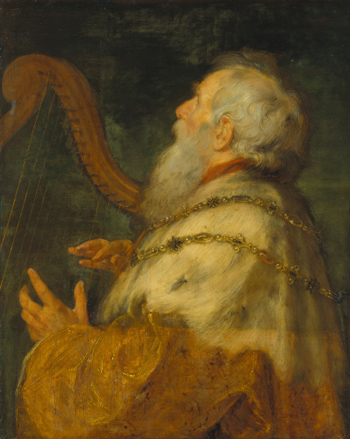 Peter Paul Rubens and Jan Boeckhorst, King David playing the harp, 1616. Frankfurt, Städel Museum