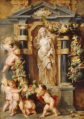 Peter Paul Rubens and Frans Synders, The statue of Ceres, ca. 1615. St. Petersburg, Hermitage