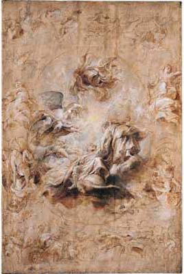 Peter Paul Rubens, The apotheosis of King James I, ca. 1629. Private collection