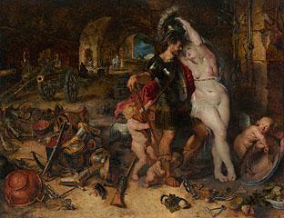 Peter Paul Rubens and Jan Brueghel, The return from war: Mars disarmed by Venus. Los Angeles, J. Paul Getty Museum