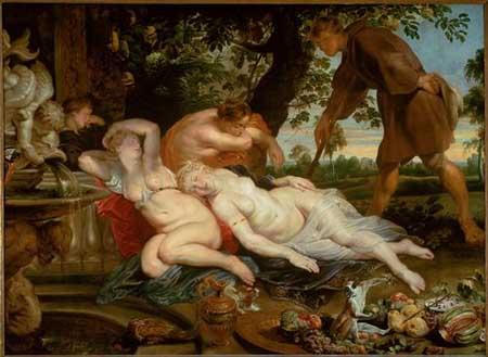 Peter Paul Rubens, Cimon and Iphigenaia. Vienna, Kunsthistorisches Museum