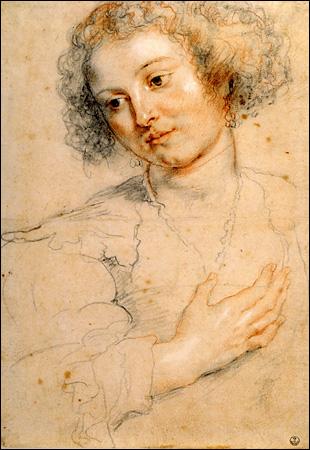 Peter Paul Rubens, Study for St. Apollonia. Florence, Uffizi