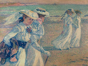 Théo Rysselberghe, Young ladies on the beach, 1901, coll. Royal Museums of Fine Arts of Belgium.