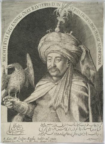 Aegidius Sadeler, Mechti Kuli Beg, Persian envoy to court of Rudolf II, Bratislava