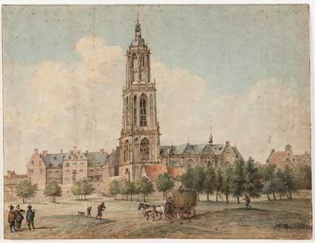 Pieter Saenredam, church of St. Cunera and palace of the winter king, Rhenen. Haarlem, Teylers Museum