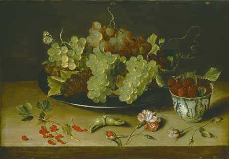 Isaak Soreau, Still life with grapevine and porcelain. Schwerin, Staatliche Museum