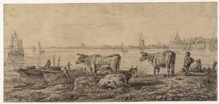 Abraham van Strij after Aelbert Cuyp, Cows on the Oude Maas. Haarlem, Teylers Museum
