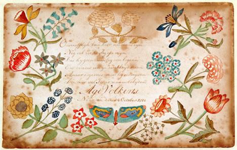Tekenschriftje Age Volkerts, 1780-81