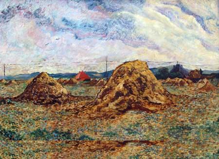 Charley Toorop, Haystacks in the dunes, 1924. Museum Kranenburgh