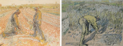 Jan Toorop, Bean Cutter and Picking up Potatoes. Otterlo, Kröller-Müller Museum