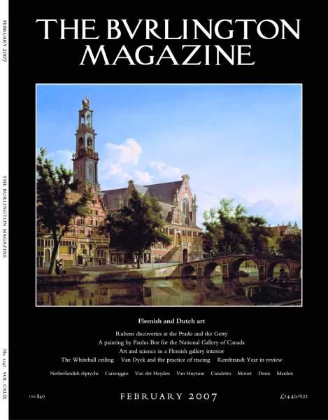 February 2007 issue of the Burlington Magazine, on Dutch and Flemish art