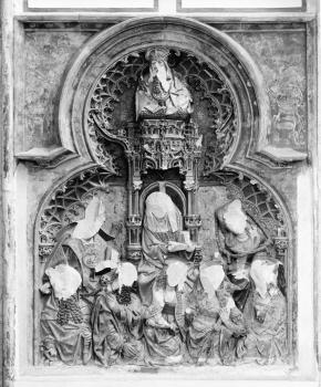Relief in Domkerk, Utrecht, damaged by iconoclasts