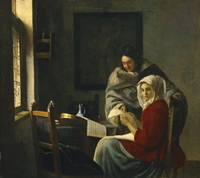 Johannes Vermeer, Girl interrupted at her music. New York, The Frick Collection