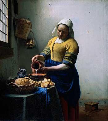 Johannes Vermeer, The milkmaid, ca. 1660. Amsterdam, Rijksmuseum