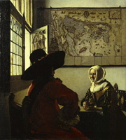 Johannes Vermeer, Officer and laughing girl. New York, The Frick Collection